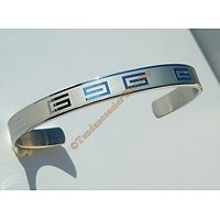 Bangle Bracelet Ouvert Ajustable Pur Acier Inoxydable Motif Laser Tribal Celte
