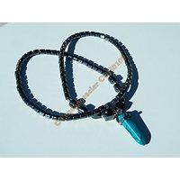 Collier Pure Hématite Pendentif Pointe Pendule Turquoise Litothérapie