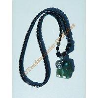 Collier Hématite Pendentif Eléphant Aventurine Minéraux et Zirconia Strass