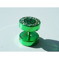 Piercing Labret Vert Fluo + 10 Zc Scorpion Acier Titane