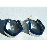 Boucles d'Oreilles 13 mm Acier Inoxydable Créoles Fer à Cheval Argenté 4 mm