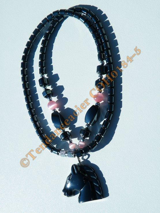 Chaine Collier Hématite