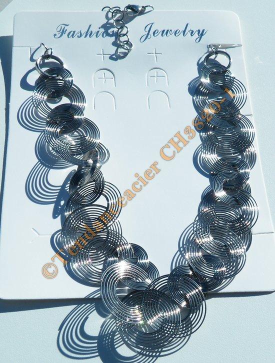 5 Collier Serpent avec Fermoir Mousqueton Acier Inoxydable 52cm