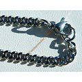 Collier Chaine Pur Acier Inoxydable 49 cm Maille Gourmette Fine Plate 3 mm