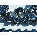Chaine Collier 60 cm Pur Acier Inoxydable Maille Gourmette 11 mm Argenté RAP