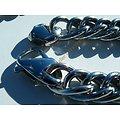 Chaine Collier Long 62 cm Acier Inoxydable Maille Gourmette 13 mm Argenté RAP