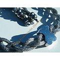 Chaine Collier Ras de Cou 42 cm Acier Inoxydable Trio Serpentine Tréssés Ours Ourson Argent