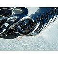 Chaine Collier Long 62 cm Pur Acier Inoxydable Maille Gourmette Large 11 mm Argenté