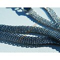 Chaine Collier Ras De Cou 45 cm Pur Acier Inoxydable Cote de Maille Serpentine 6 mm Argenté