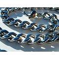 Chaine Collier 60 cm Argenté Pur Acier Inoxydable Maille Gourmette 7 mm