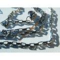 Chaine Collier Ras De Cou 60 cm Pur Acier Inoxydable Maille Rectangle 1,5 mm Argenté