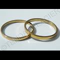 Bague Alliance 2 mm Plate Acier Inoxydable Doré Or  Homme Femme Mariage Discount