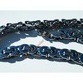 Chaine Collier 61 cm Argenté Pur Acier Inoxydable Maille Royale 9 mm