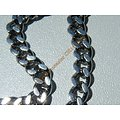 Chaine Collier 81 cm Style Maille Gourmette Argenté Pur Acier Inoxydable Chirurgical 5,2 mm