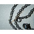 Chaine Collier 50 cm Style Maille Jaseron Argenté Pur Acier Inoxydable Chirurgical 2,2 mm