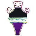 Maillot de bain  2 pieces Crochet néoprène Tankini Violet Mauve XXL