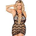 Sexy lingerie Robe Chemise  noir dentelle au crochet XXL 2XL