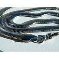 Collier Chaine Acier Inoxydable Serpentine Maille Serpent Plate 6 mm