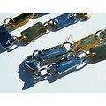 Collier Sautoir Multi Plaques Acier Inoxydable Argenté et Or Brillant 52 cm