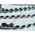 Chaine Acier Inoxydable Argenté Brillant Haricots 2,4 mm
