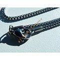 Chaine Fine Serpentine 3 Dimensions Pur Acier Inoxydable 2 mm