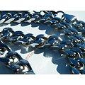 Chaine Argentée 60 cm Maille Gourmette 7,5 mm Pur Acier Inoxydable Love