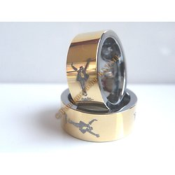 Bague MJ Michael Jackson This Is IT Tungsten OR Collector