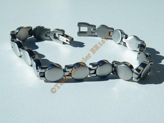 Bracelet Gourmette Pur Acier Inoxydable 8 mm Rond Argenté 20 cm