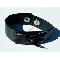 Bracelet Ceinture Simili Cuir Noir Noeud Papillon Mode Ajustable Stylé