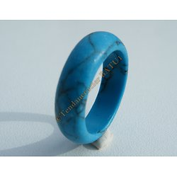 Bague Alliance Turquoise Bleu Bombée 5 mm