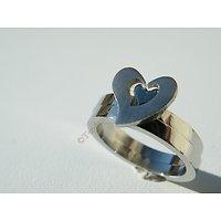 2 Alliances Acier Inoxydable Coeurs Séparables ou Assemblés Idéal Couple Amoureux