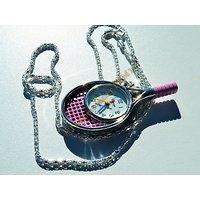 Pendentif Montre Raquette Williams Sport Tennis Rose Pur Acier Inoxydable +  Chaine