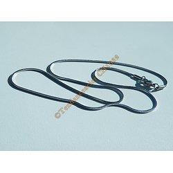 Collier Chaine Maille Serpent 1 mm Pur Acier Inoxydable Argenté 46 cm
