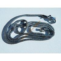 Collier 50 cm Chaine Maille Serpent Acier Inoxydable Serpentine Argenté 2mm
