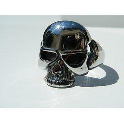 Bague Pur Acier Inoxydable Tete de Mort Gothique Skull Hard Argenté