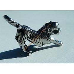 Pendentif Tigre Puma Guépard Skull Félin 3 Dimensions Pur Acier Inoxydable 46 mm