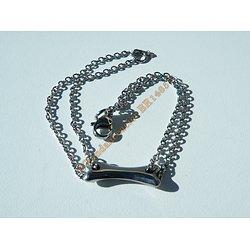 Bracelet Argenté Fashion Femme Fille Pur Acier Inoxydable Os Chien Chippie 20 cm