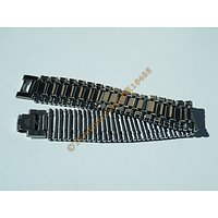 Bracelet Pur Acier Inoxydable 22 cm Gourmette 5 Rangs Extra Large 24 mm Argenté