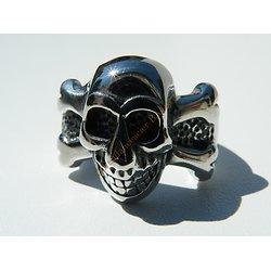 Bague Acier Inoxydable Tete de Mort Pirate Skull Gothique One Piece