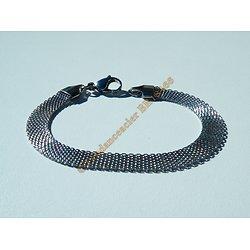 Bracelet Femme Fin Cote de Maille Argenté Ceinture 8 mm Pur Acier Inoxydable 20 cm