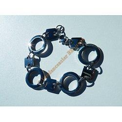 Bracelet Fantaisie 20 cm Pur Acier Inoxydable Rond Style Menottes Amour Prison Argenté