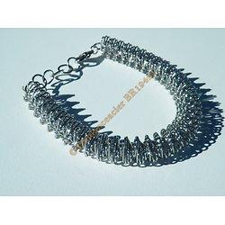Bracelet Etirable Ajustable Pur Acier Inoxydable Tourbillon ADN 11 mm Argenté