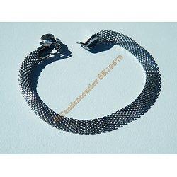 Bracelet Fin Cote de maille Argenté Ceinture 6 mm Pur Acier Inoxydable 19 cm