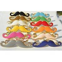 Bague Fantaisie Double Alliance Doré Or Moustache Bacchantes Noir 12 Couleurs Fashion Discount