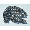 Chaine Collier 61 cm Argenté Pur Acier Inoxydable Maille Anneaux Torsadé 11 mm