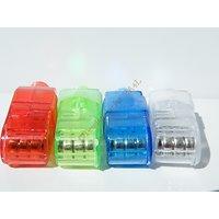 LOT 4 Bagues LED Rouge Blanc Vert Bleu Ajustable Disco Fete Magique Supporter JO