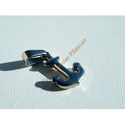 Pendentif Marin Mini Ancre Marine 3D Argenté 20 mm Pur Acier Inoxydable + Chaine