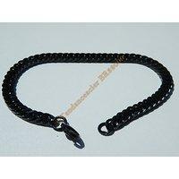 Bracelet Maille Serré Libre 6 mm Black Noir Pur Acier Chirurgical Inoxydable  21 cm