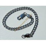 Bracelet Maille Sérré Libre 4,3 mm Pur Acier Chirurgical Inoxydable Argenté 21 cm