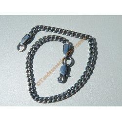 Bracelet Maille Sérré Libre 3,8 mm Pur Acier Chirurgical Inoxydable Argenté 22 cm